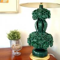 lampara ceramica vintage manises