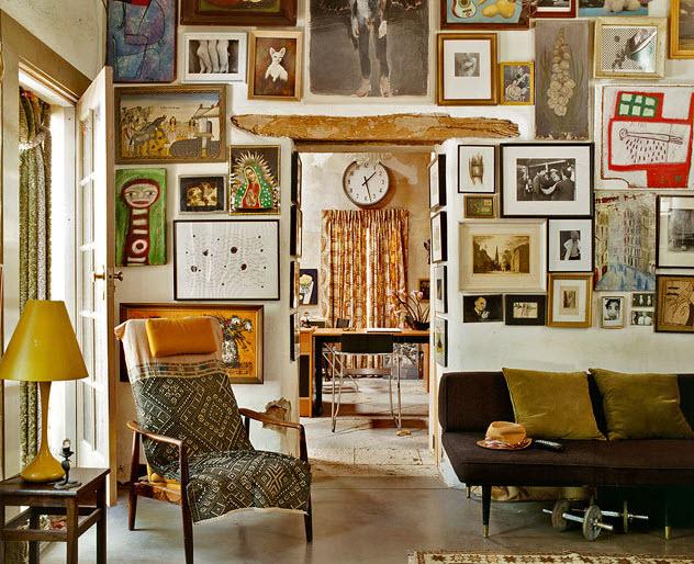 decorar paredes con cuadros vintage