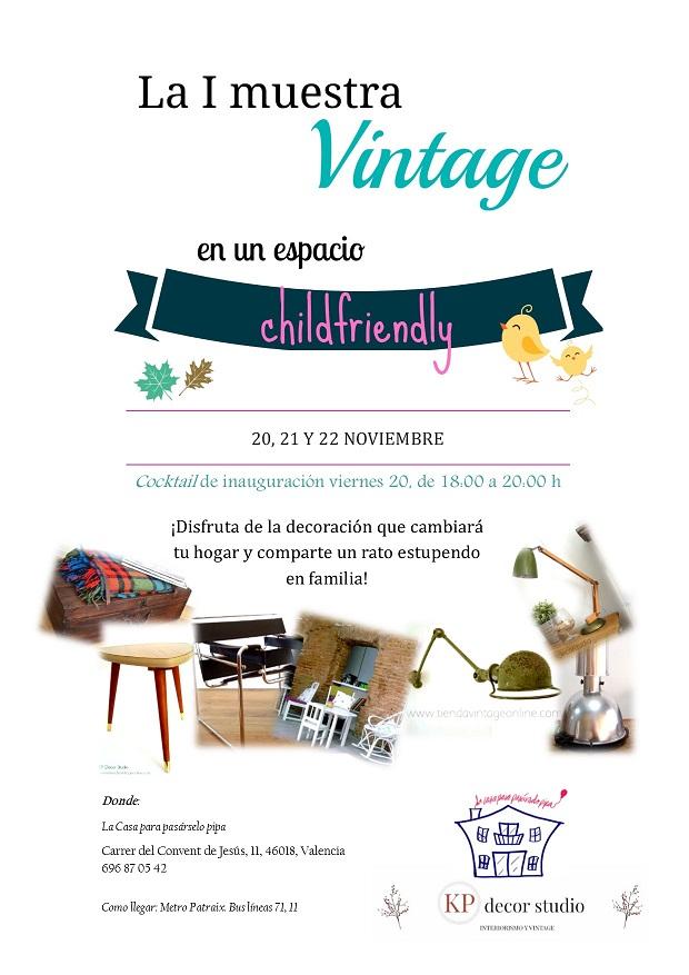evento vintage childfriendly valencia niños noviembre 2015