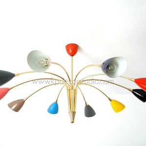 Lámpara de techo stilnovo colores