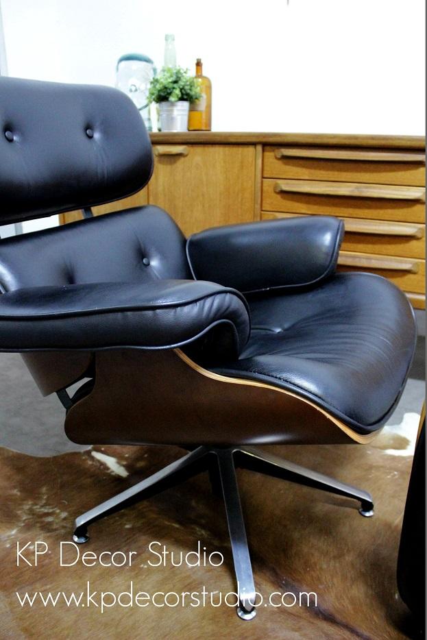 Tienda muebles vintage originales sillon Eames y reposapies