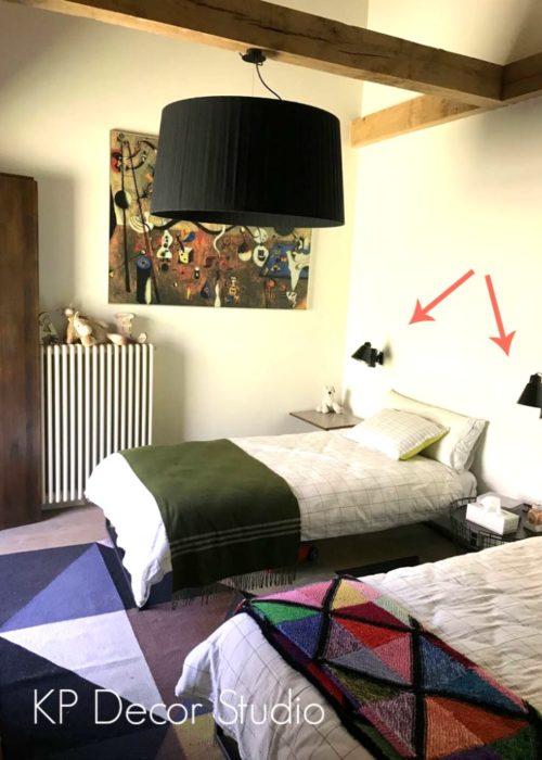 Apliques vintage dormitorio