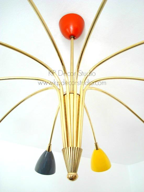 Lámpara stilnovo restaurada