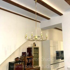 lámparas d etecho en latón chandelier vintage midcentury