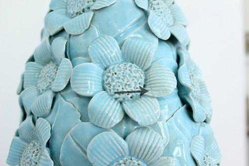 Lampara de sobremesa antigua ceramica manises