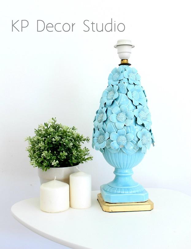 Lámpara ceramica manises antigua
