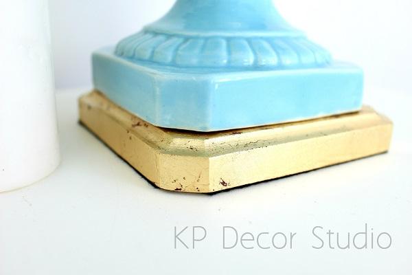 Lámpara manises azul vintage