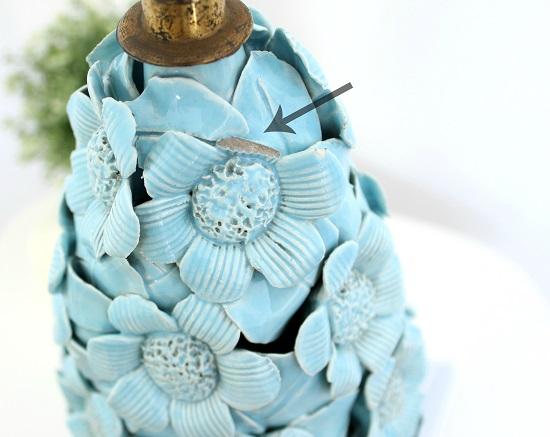 Lampara de ceramica manises antigua midcentury