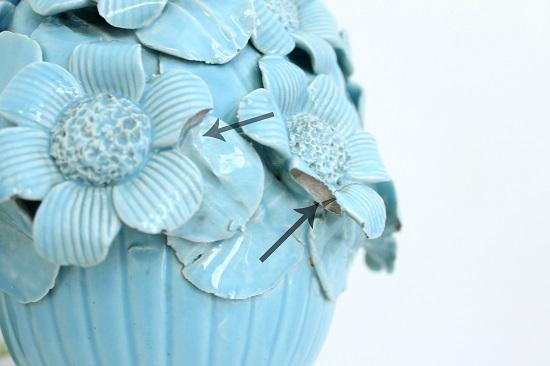 Lampara de ceramica manises vintage midcentury