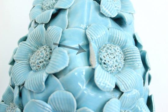 Lampara de ceramica manises