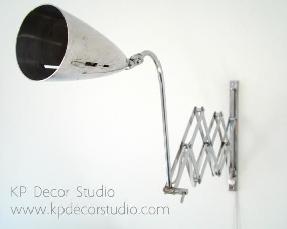 Aplique vintage acordeón para pared estilo industrial.