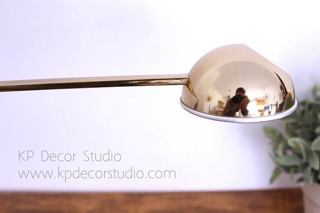 Lámpara de despacho de diseño, dorado, vintage
