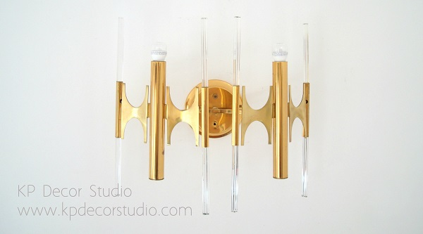 Tienda de apliques vintage de latón diseño italiano