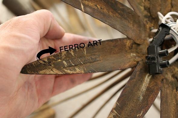 Lampara techo ferro art