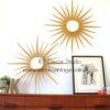 Espejos midcentury de hojas tipo sol