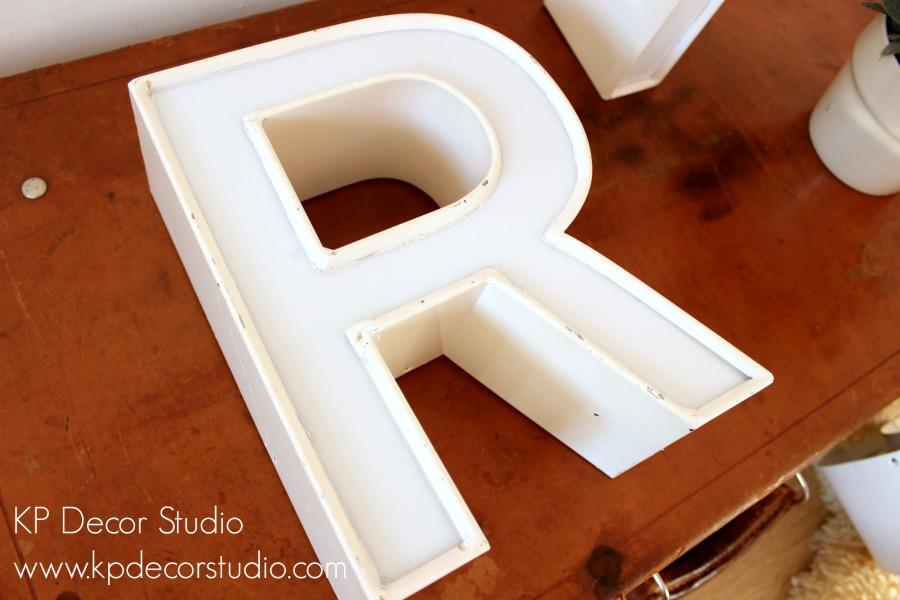 Letra vintage R
