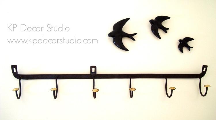 Perchero de pared antiguo metal y lat n kp decor studio for Percheros metalicos