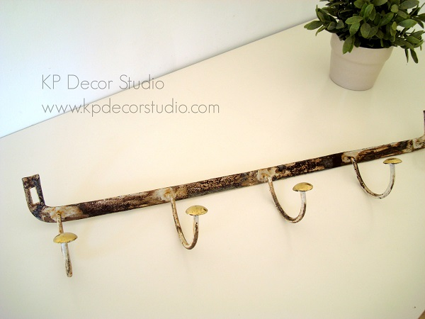 Perchero sabby chic para pared