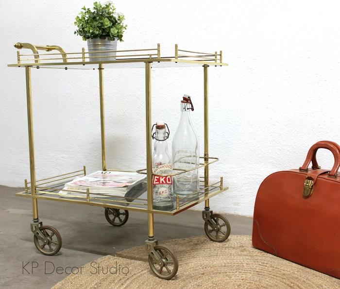 Carrito con ruedas vintage