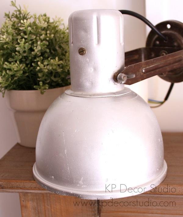 decoración industrial. lamparas vintage