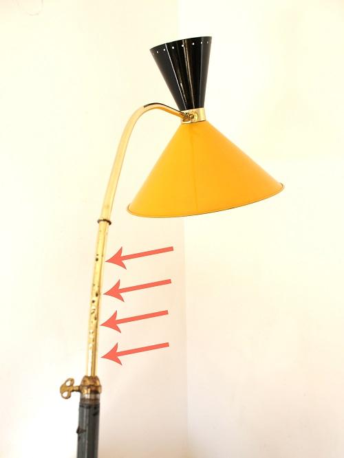Lámpara diabolo midcentury