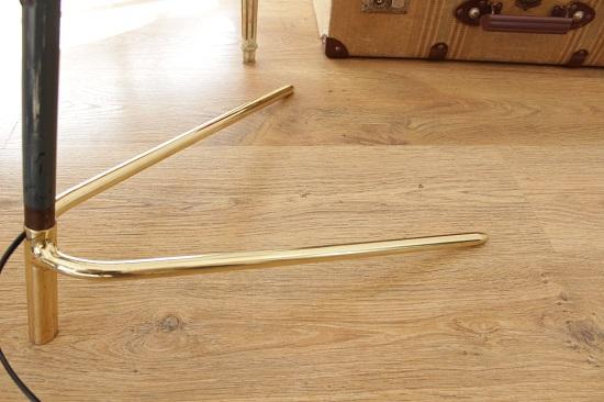Lámparas midcentury de pie con trípode de latón