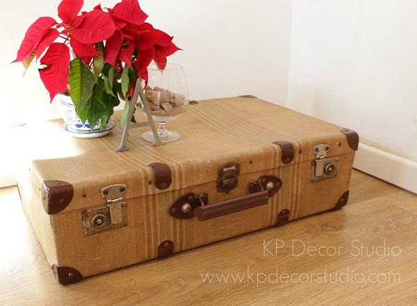 maleta antigua para decoración