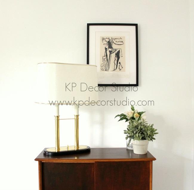Lámpara de mesa elegante vintage