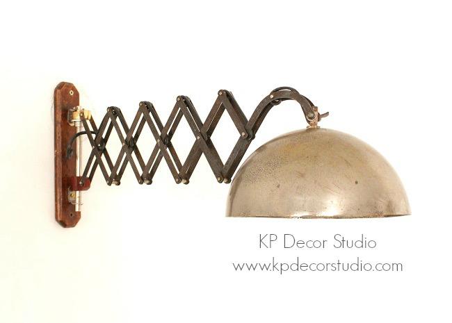 Lámpara extensible antigua
