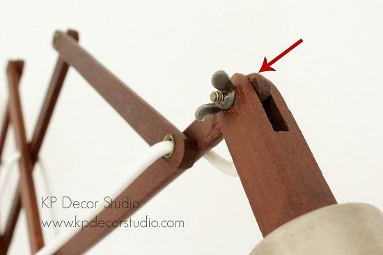 aplique madera vintage ballesta extensible