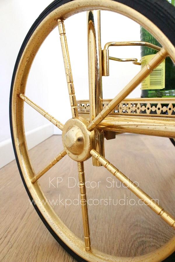 Carritos vintage minibar ruedas altas