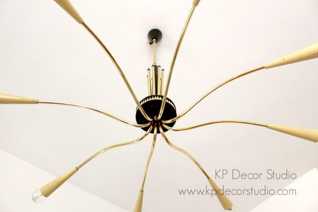 Donde comprar lámparas italianas midcentury de latón tipo chandeliers antiguas