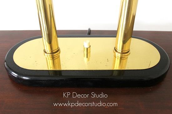 Lámparas de mesa vintage en latón