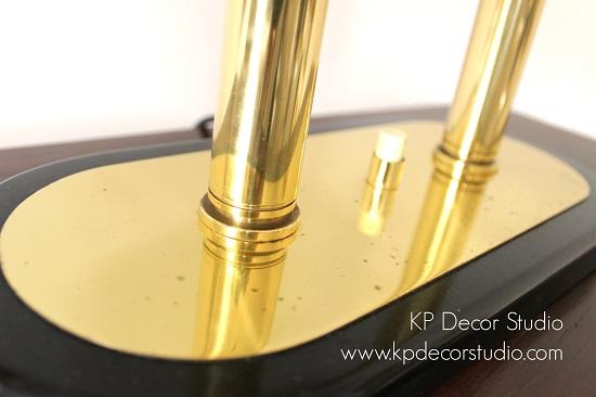 Lámpara de mesa vintage elegante para salón