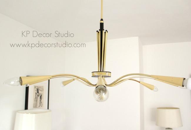 Midcentury sputnik lamp brass