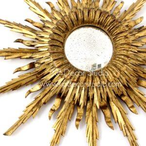espejo sol antiguo dorado