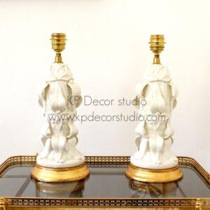 Pareja de lámparas vintage manises ceramica años 50