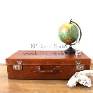 Comprar maleta antigua de piel para decoración, decorar, exposiciones, escaparates, eventos, Bodas