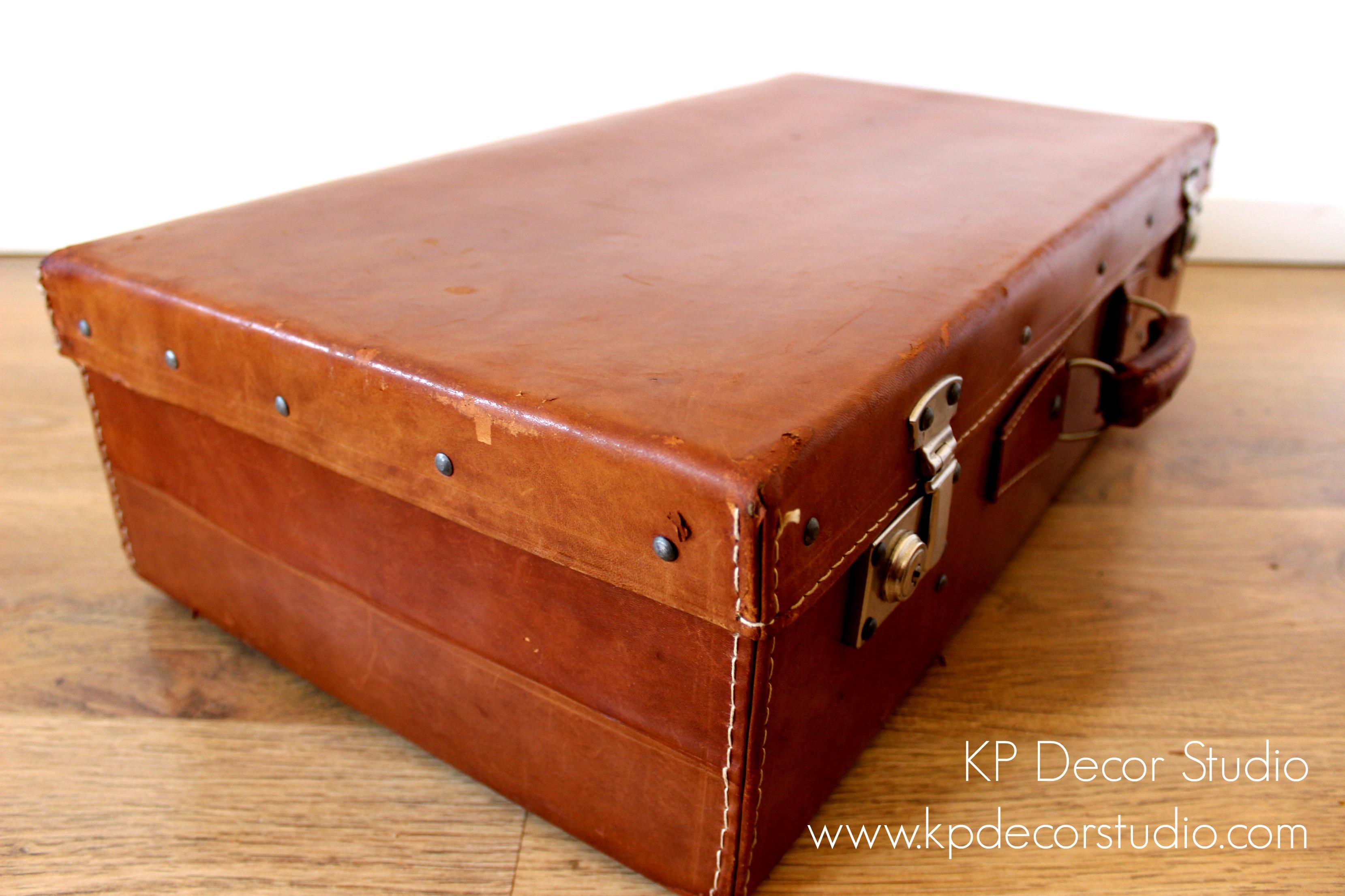Comprar maleta vintage de piel