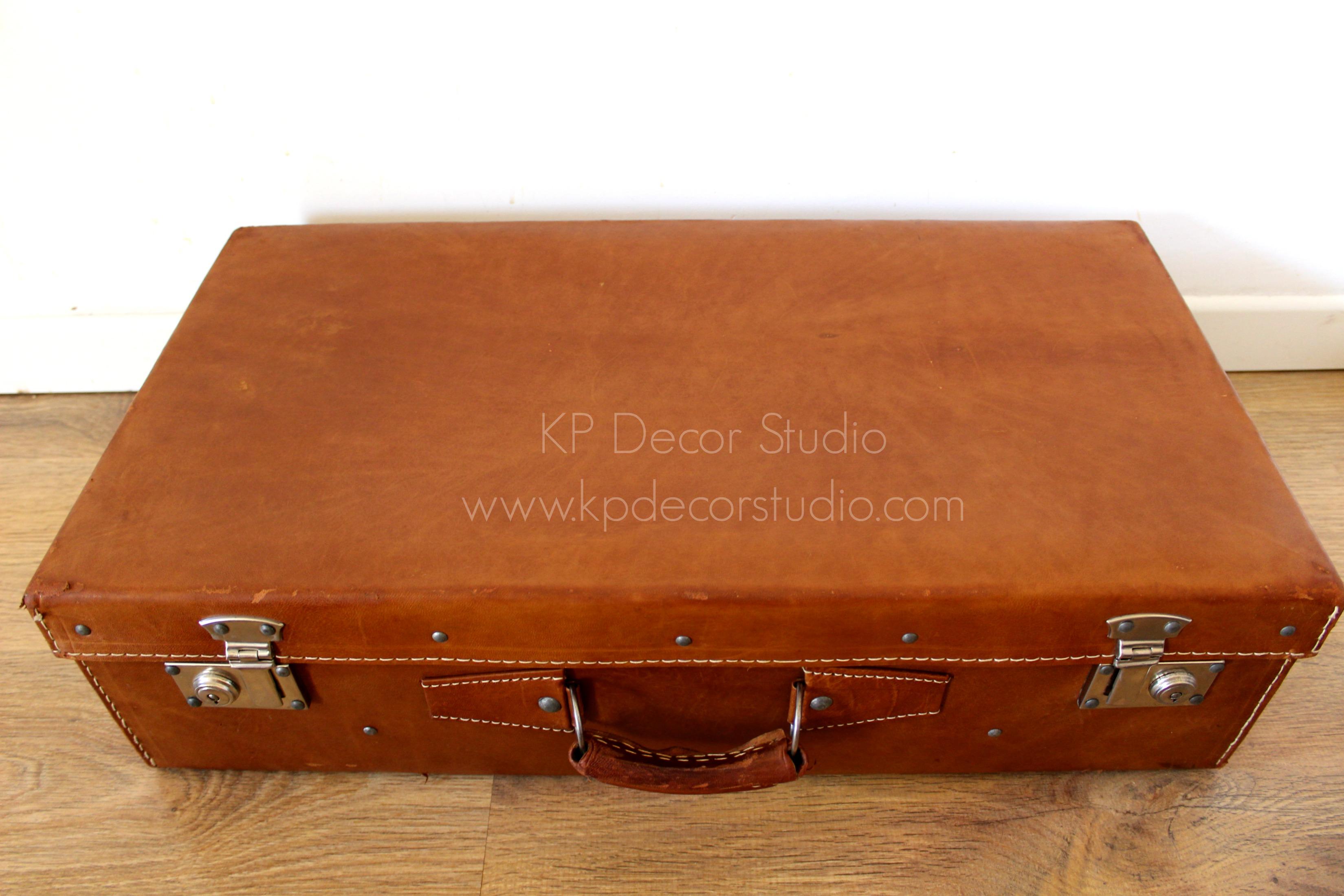 Maletas de piel vintage cuero marrón buen estado precios