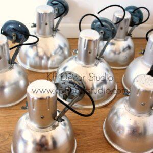 Lámparas vintage estilo industrial. Focos industriales aluminio