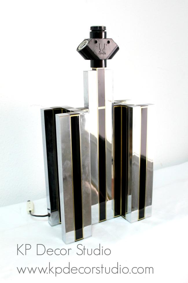 Lámpara de mesa vintage grande para salones o recibidor.