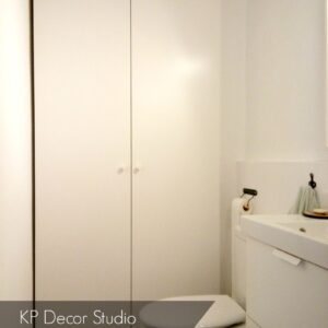 Cuartos de baño enlucidos sin azulejos