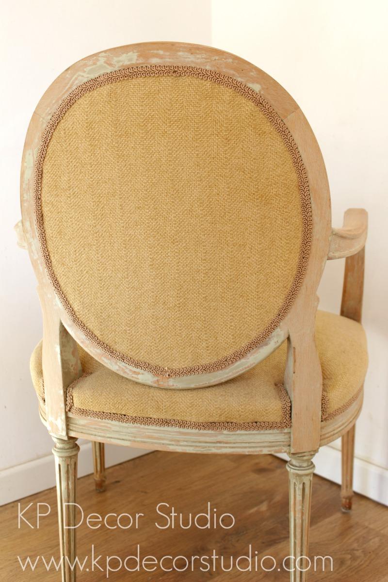 Silla estilo Luis XV vintage