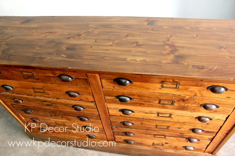 Comprar archivador de madera antiguo cajonero