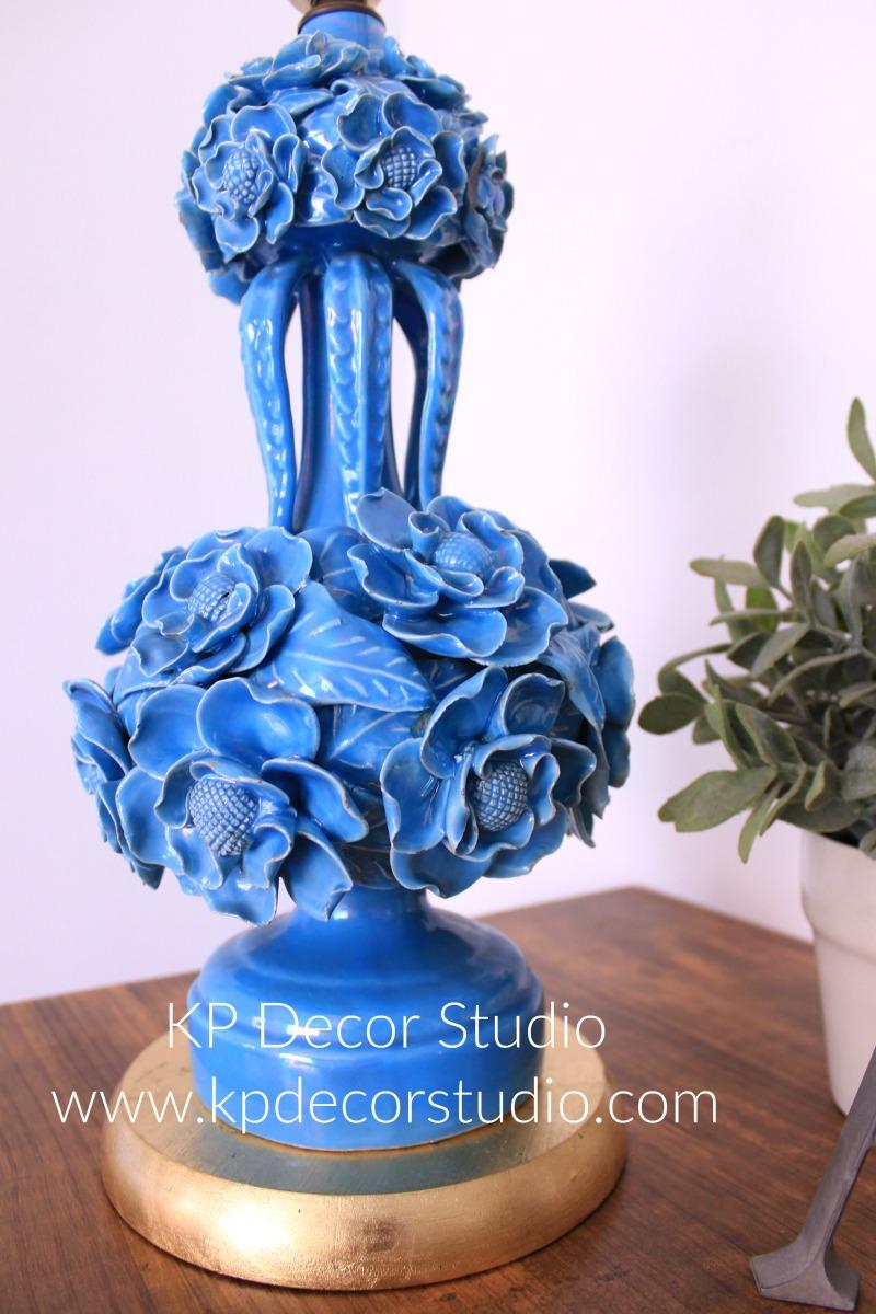 lampara-años-50-ceramica-manises-azul