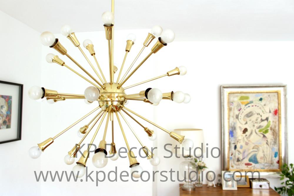 Lámpara sputnik de latón italiana
