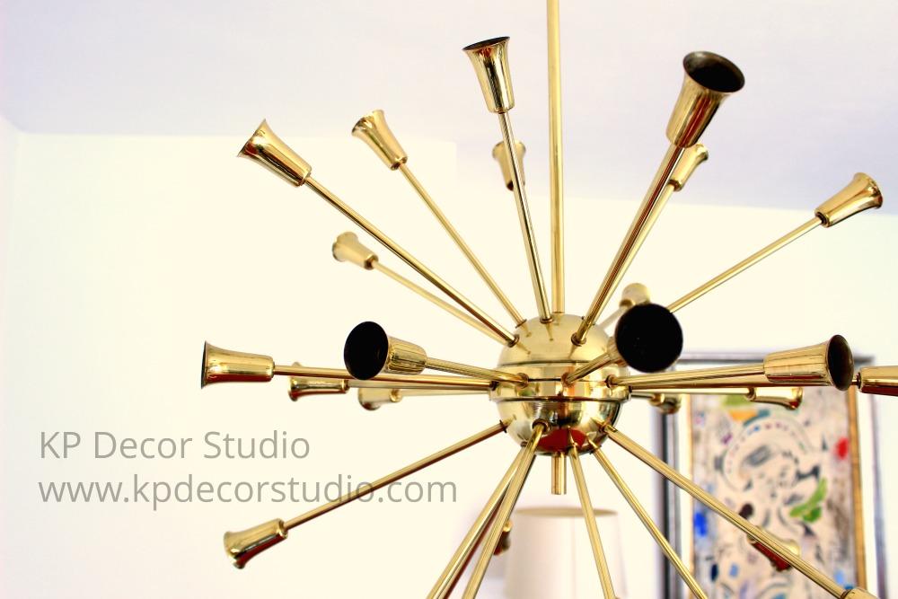 Brass sputnik chandelier by stilnovo. Shop online