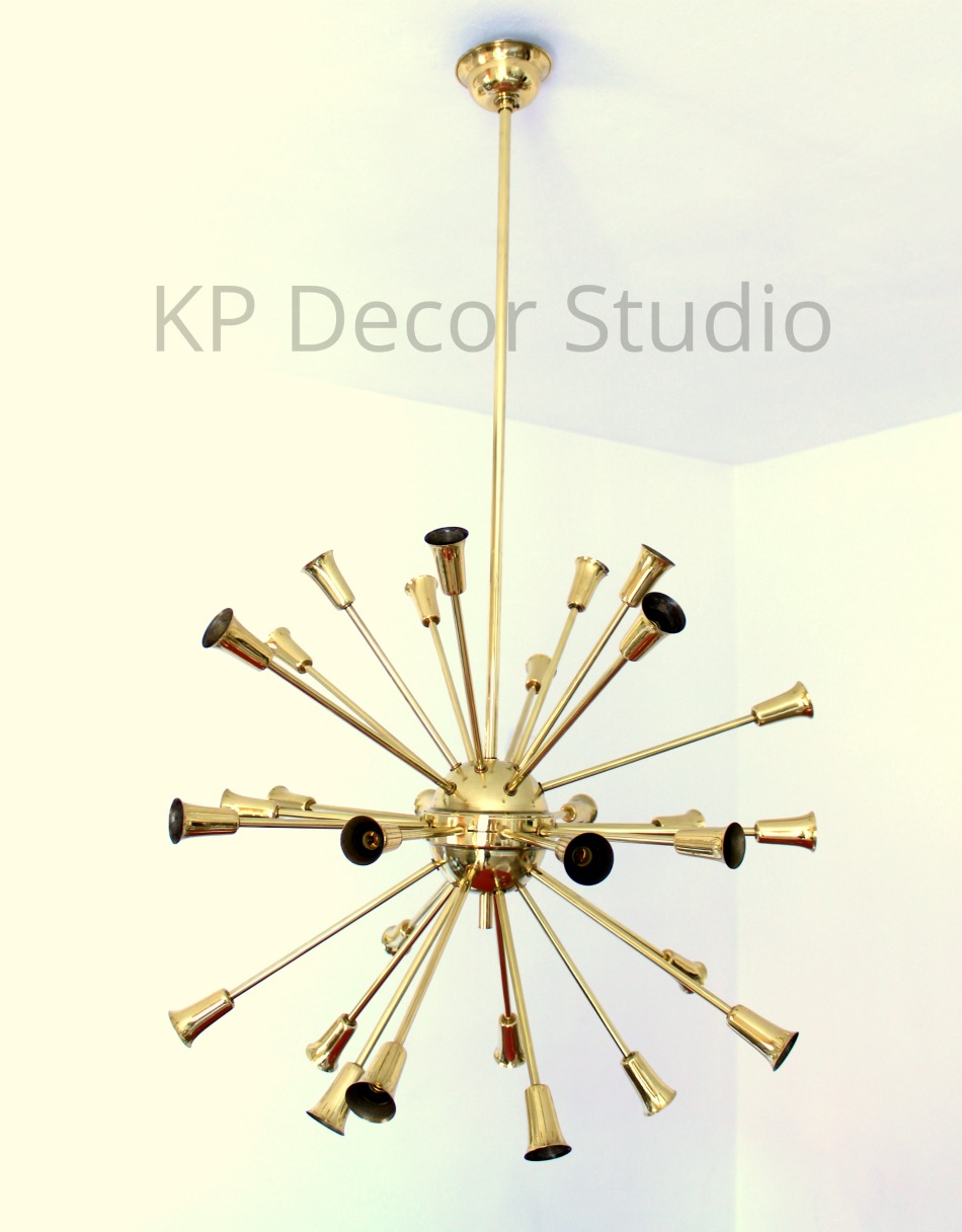 Buy brass sputnik chandelier by stilnovo