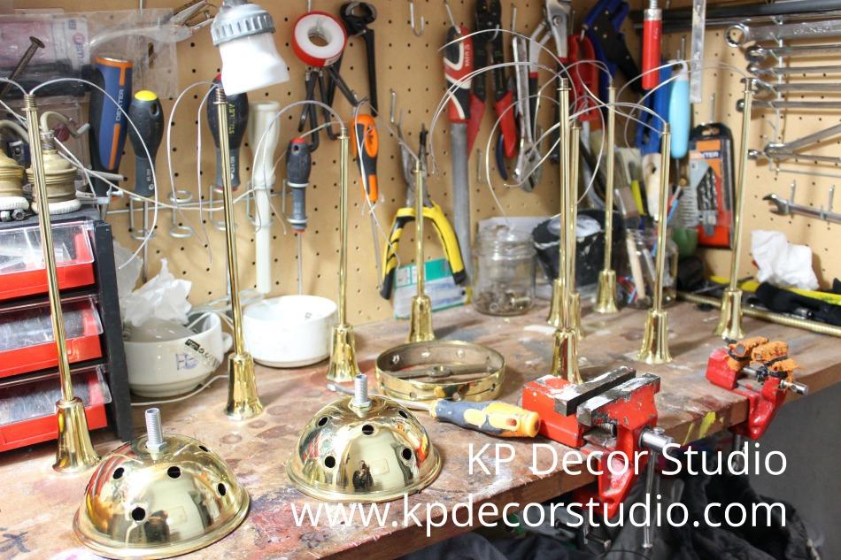 Restauración de lámpara midcentury